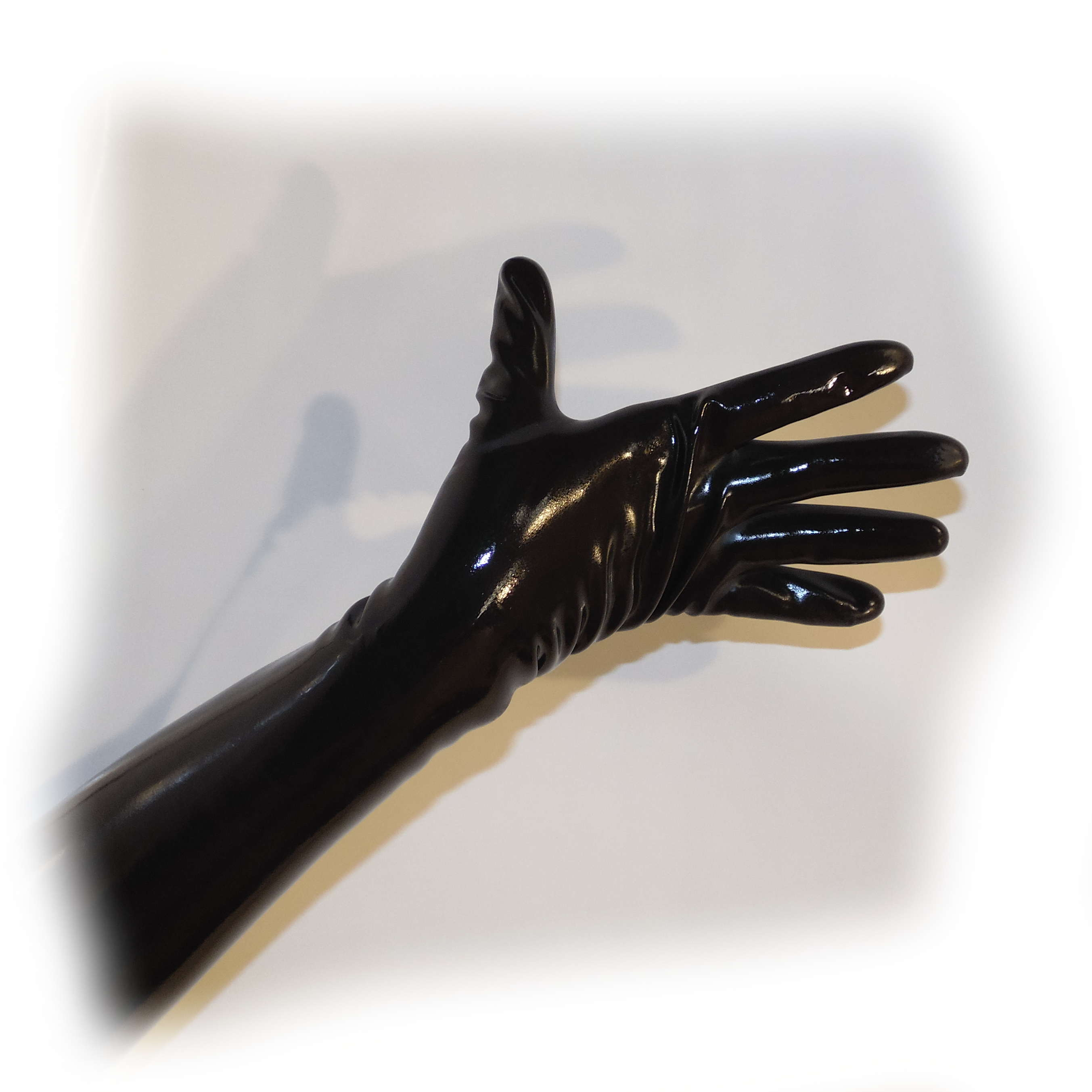 Latex Glove Schwarz extra heiß - 0,3 mm starkes Materia Size M (2015) 2