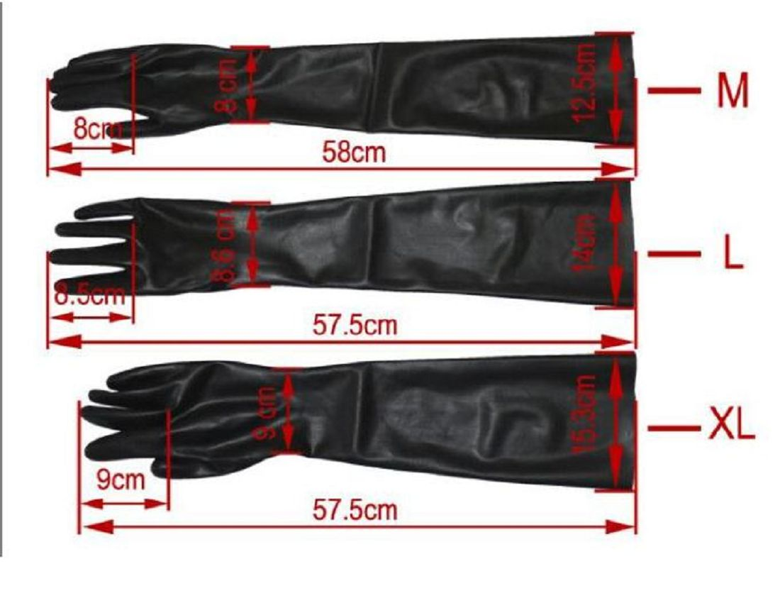 Latex Glove Schwarz extra heiß - 0,3 mm starkes Materia Size M (2015) 3