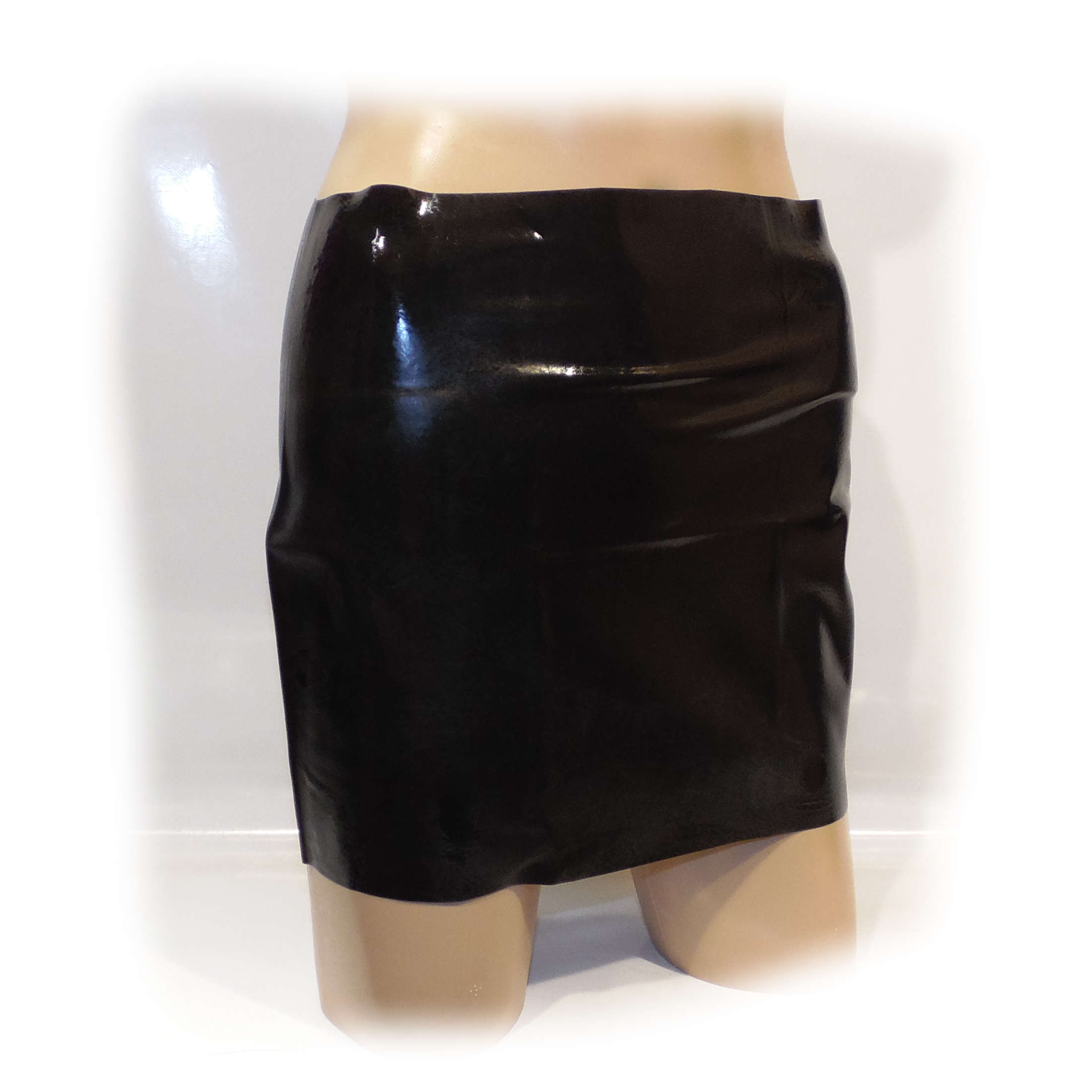 Latex Female Skirt with hole Schwarz extra heiß - 0,3 m Size L (2176) 3